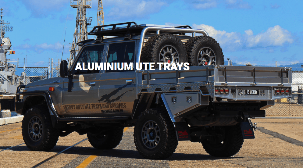 Image of aluminium ute tray